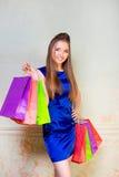 Dziewczyna z zakupami Obrazy Stock