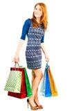 Dziewczyna z zakupami od sklepu Zdjęcia Stock