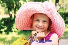 Dziewczyna z zakupy Obrazy Royalty Free