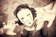 Dziewczyna zabójcy strach fotografia royalty free
