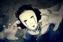Dziewczyna zabójcy strach zdjęcie stock