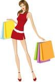 dziewczyna zakupy Obrazy Stock