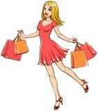 dziewczyna zakupy zdjęcia stock