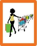 dziewczyna zakupy Ilustracji