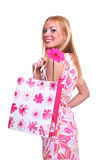 dziewczyna zakupy zdjęcie stock
