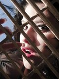 dziewczyna zaskakiwał Fotografia Stock