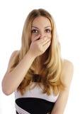 dziewczyna zaskakująca Zdjęcia Stock