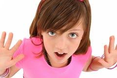 dziewczyna zaskakująca Fotografia Royalty Free