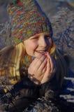 Dziewczyna zima portret Fotografia Royalty Free