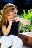 dziewczyna zjadliwi gwoździe Obrazy Royalty Free