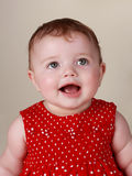 dziewczynek 6 miesiąc Fotografia Royalty Free