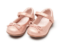 Dziewczynka buty fotografia stock