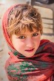 Dziewczynka od Naran Pakistan uśmiech - piękno - 2017 dziecko - Fotografia Stock