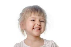 Dziewczynka robi chytrej twarzy Obraz Stock