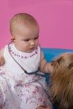 dziewczynka stetoskop Obrazy Royalty Free