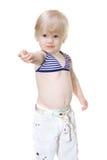 dziewczynka target2172_0_ coś swimsuit Obraz Royalty Free