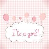 Dziewczynki dziecka prysznic zaproszenia karty szablon Obraz Royalty Free