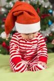 Dziewczynki Santa pomagier Fotografia Royalty Free