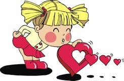 dziewczynki valentine Zdjęcia Royalty Free