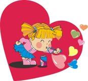 dziewczynki valentine Zdjęcia Stock