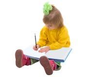 dziewczynki writing Obrazy Royalty Free