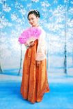 dziewczyno, koreański Obraz Royalty Free