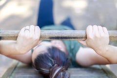 Dziewczyny ćwiczy sprawność fizyczna Zdjęcia Royalty Free