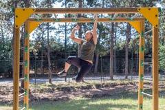 Dziewczyny ćwiczy sprawność fizyczna Obrazy Royalty Free