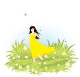 dziewczyny łąka obrazy royalty free