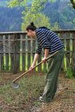 dziewczyny śliczny ogrodowy działanie Zdjęcie Royalty Free