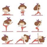 dziewczyny śliczny robi joga royalty ilustracja
