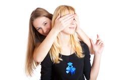 dziewczyny śmiają się nastoletni dwa Fotografia Stock