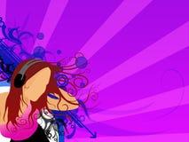 dziewczyny 2 muzyki Zdjęcia Royalty Free