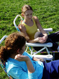 dziewczyny 2 park Obrazy Stock