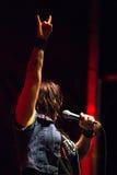 dziewczyny AC/DC Okładkowego zespołu piekła Dzwony zdjęcia stock