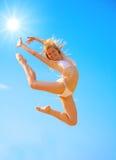 dziewczyny aktywny niebo Obraz Stock