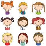 Dziewczyny avatar Zdjęcia Stock