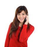 dziewczyny azjatykci telefon komórkowy Fotografia Royalty Free