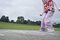Dziewczyny Bawić się szkocki W boisku Fotografia Royalty Free