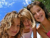 dziewczyny bawją się lato obraz stock