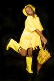 dziewczyny biegu deszcz Zdjęcie Stock