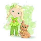 Dziewczyny blond złoto 1 Zdjęcia Stock