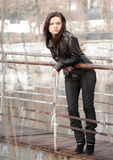 dziewczyny bridżowy żelazo Zdjęcia Stock