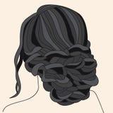 Dziewczyny brunetka z tytułowanie włosy Zdjęcia Stock