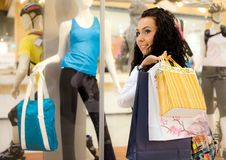 dziewczyny centrum handlowe Obraz Royalty Free