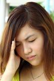 dziewczyny chińska choroba który Zdjęcie Royalty Free