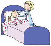 dziewczyny choroba royalty ilustracja