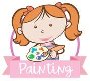 Dziewczyny Colour wody obraz royalty ilustracja
