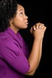 dziewczyny czarny modlenie Obrazy Stock