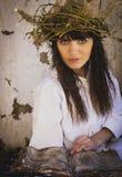 Dziewczyny czarownica z Fotografia Stock